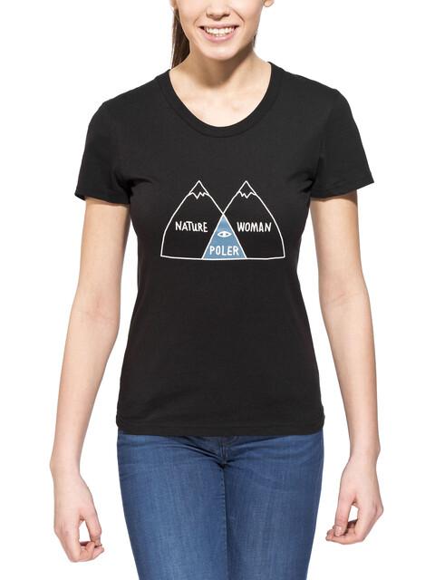 POLER Venn - T-shirt manches courtes Femme - noir